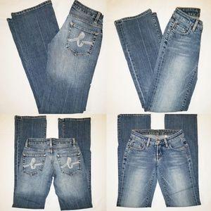 Women's Bebe Jeans Bling Sophie Boot cut Denim Med